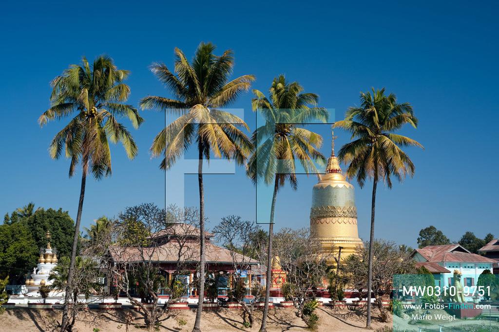 MW0310-9751 | Myanmar | Kachin State | Bhamo | Reportage: Schiffsreise von Bhamo nach Mandalay auf dem Ayeyarwady | Theindawgyi-Pagode in Bhamo  ** Feindaten bitte anfragen bei Mario Weigt Photography, info@asia-stories.com **