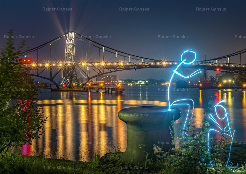 161101-53-Wilhelmshaven KW Brücke Lightpainting