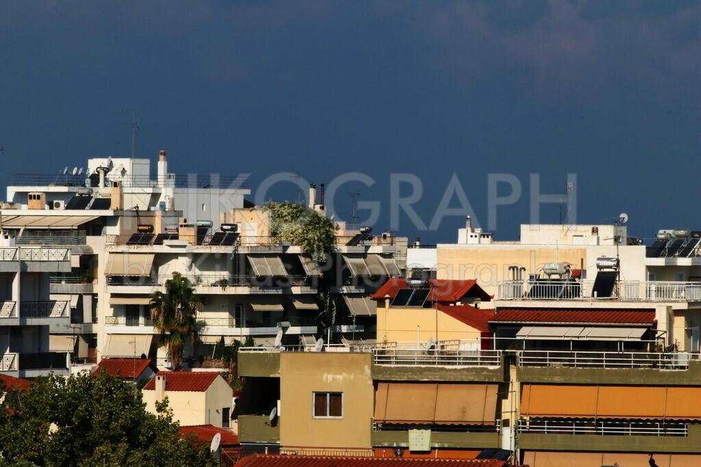 Häuser von Chalkida | Die Gebäude von Chalkida auf der griechischen Insel Euböa.