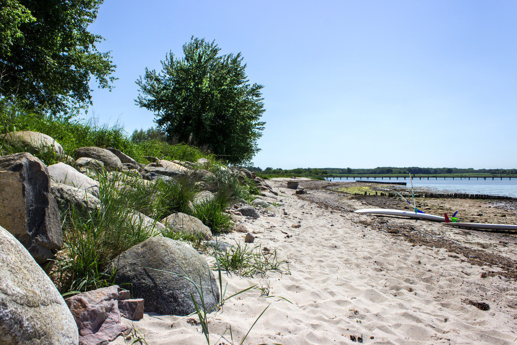 Strand in Wackerballig | Sandstrand in Wackerballig im Frühling