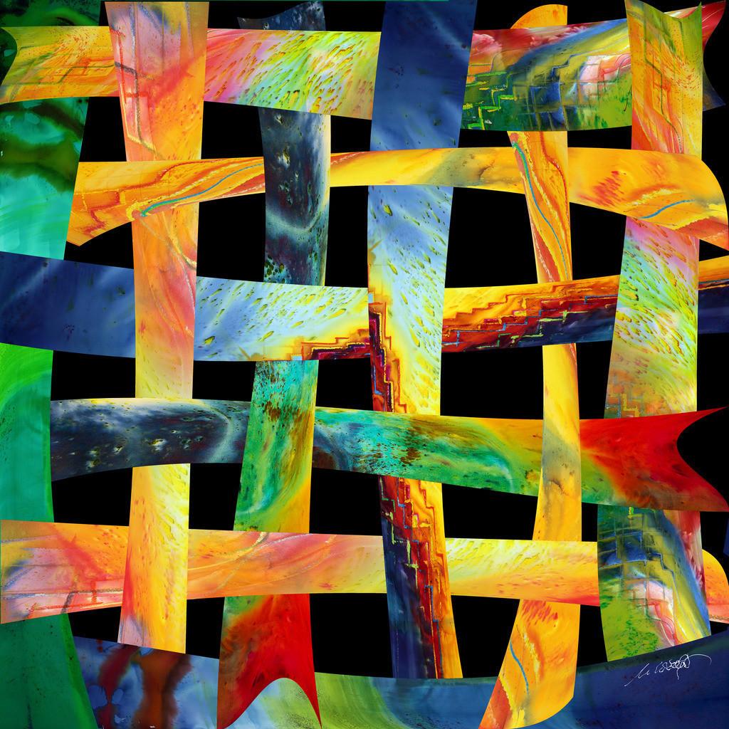 Farben des Lebens V04 | DAS LEBEN UND SEINE FARBEN:  Beobachtet man das Leben, ist es ein Geflecht aus Mensch und Zeit. Wie Großartiges in Niedrigem, durchschneidet Vertikales unseren Horizont. Nur die Zeit und die Andacht lassen das Muster erahnen. Erst nach der letzten Stunde hat man alle Farben gesehen. die das Leben und der Mensch gemalt haben.