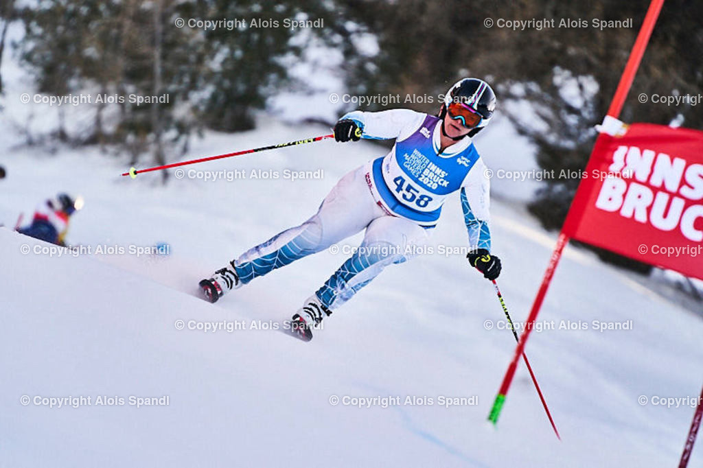 ALS5970_WWMG_GS-II_C | (C) FotoLois.com, Alois Spandl, WinterWorldMastersGames 2020 Innsbruck, Giant Slalom-II Gruppe C Damen, Patscherkofel Olympiaabfahrt, Mi 15. Jänner 2020.
