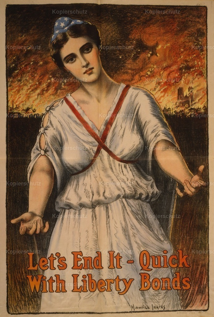 Ingres_ Maurice (b.1855) - WWI Poster 1917 - Let_s end it - quick_ with Liberty Bonds