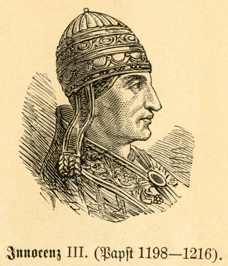 Papst Innozenz III. /  Pope Innocent III   Europa, Italien, Rom, Papst Innozenz III. ,  Motiv aus :