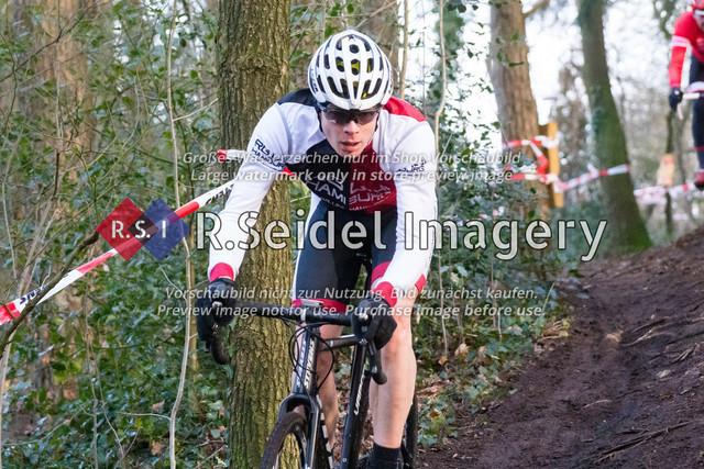 Radsport, Stevens Cyclocross Cup 2019, 10. Lauf (RSG Nordheide), Rennen 9 (Elite Herren + U23, Masters 2 / Elite Ü40 und Junioren U19), Buchholz i.d.N., 19.01.2020 | Christoph Sang (RG Uni Hamburg, #179, Masters 2)