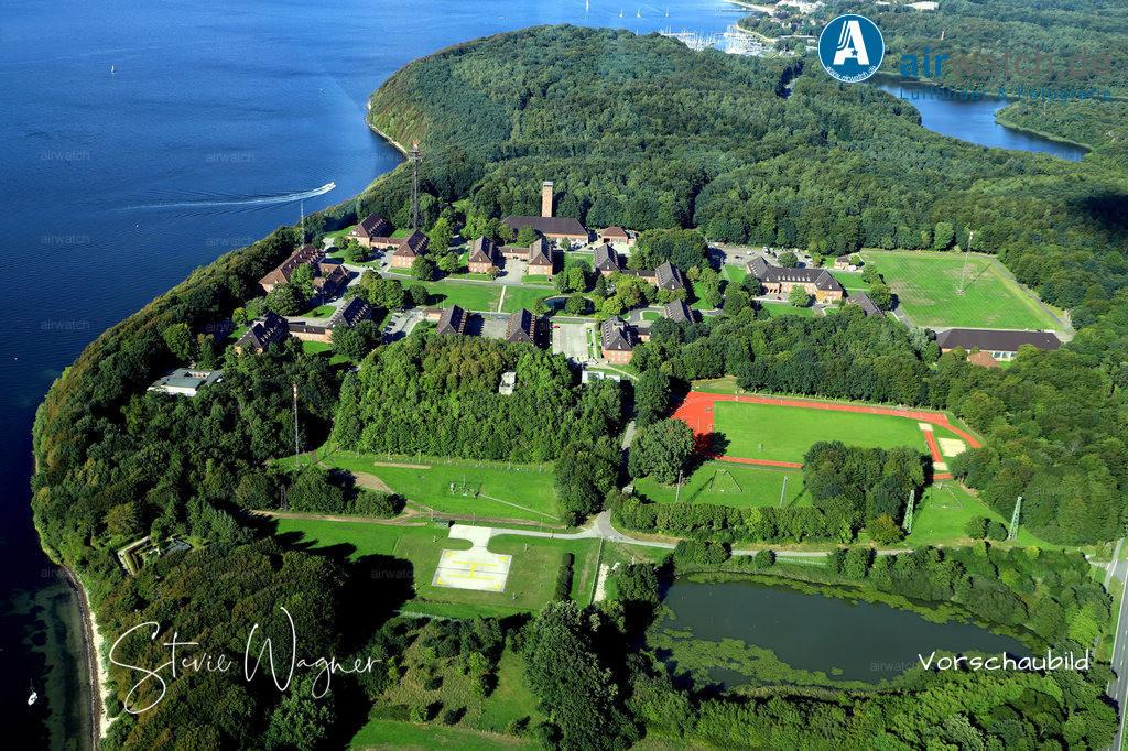 Luftbild Flensburger Förde, Kaserne in Meierwik  | Flensburger Foerde  - Luftbild, Luftaufnahme, aerophoto, Luftbildfotografie, Luftbilder