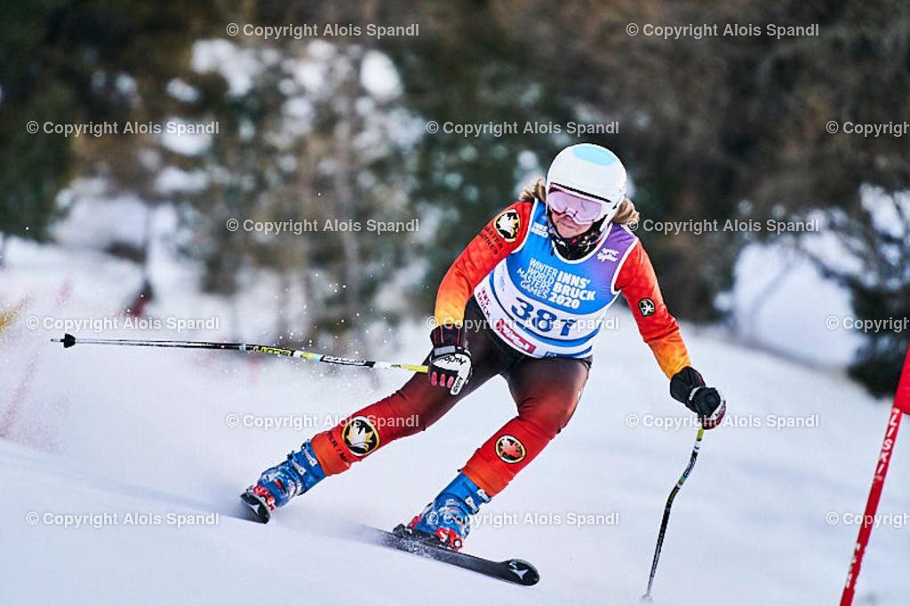 ALS5588_WWMG_GS-II_C | (C) FotoLois.com, Alois Spandl, WinterWorldMastersGames 2020 Innsbruck, Giant Slalom-II Gruppe C Damen, Patscherkofel Olympiaabfahrt, Mi 15. Jänner 2020.