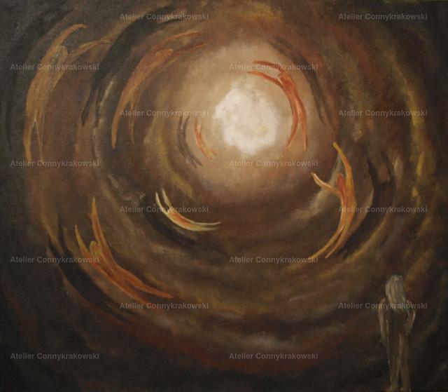 Allein (2) | Phantastischer Realismus aus dem Atelier Conny Krakowski. Verkäuflich als Poster, Leinwanddruck und vieles mehr.