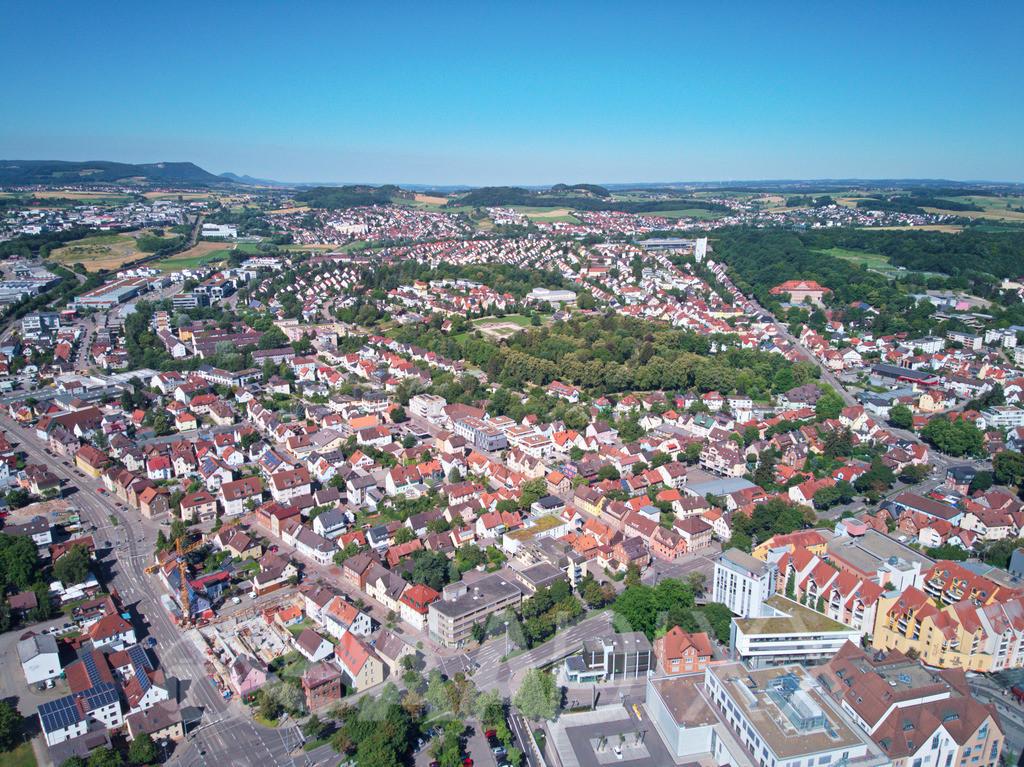 Luftbild Aalen | Blick vom Rathaus Richtung Westen