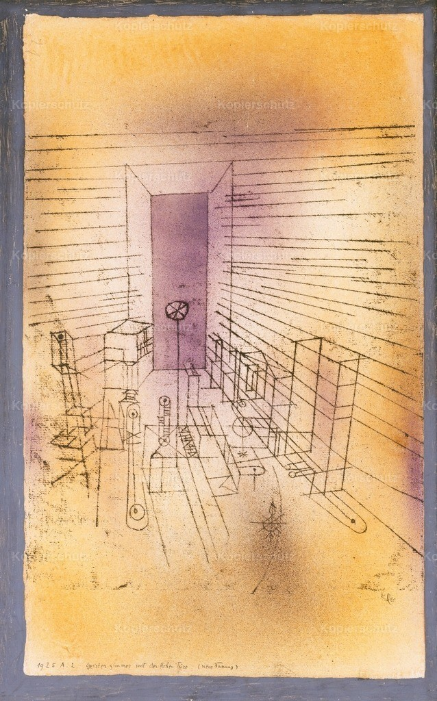 Klee_ Paul (1879-1940) - Ghost Chamber with the Tall Door 1925