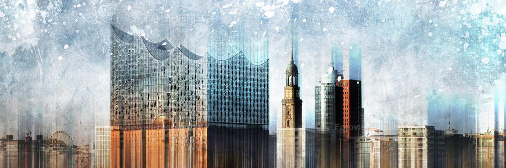 11954583 - Hamburg Panorama Abstrakt