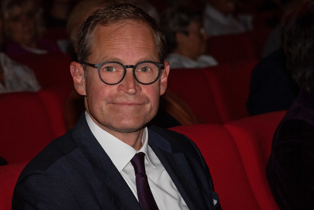 Verleihung der Urania-Medaillie   Berlins Regierender Bürgermeister Michael Müller