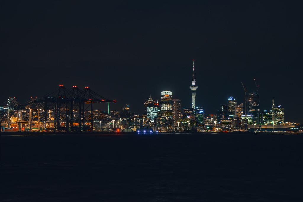 Skyline von Auckland bei Nacht | Skyline von Auckland bei Nacht