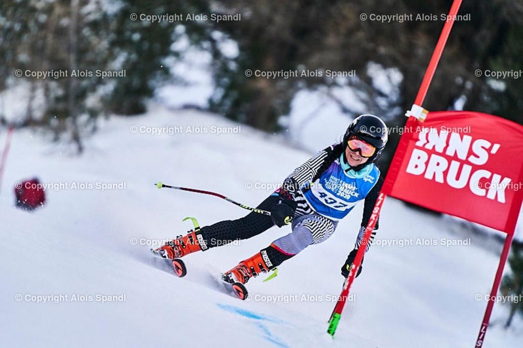 ALS5860_WWMG_GS-II_C | (C) FotoLois.com, Alois Spandl, WinterWorldMastersGames 2020 Innsbruck, Giant Slalom-II Gruppe C Damen, Patscherkofel Olympiaabfahrt, Mi 15. Jänner 2020.