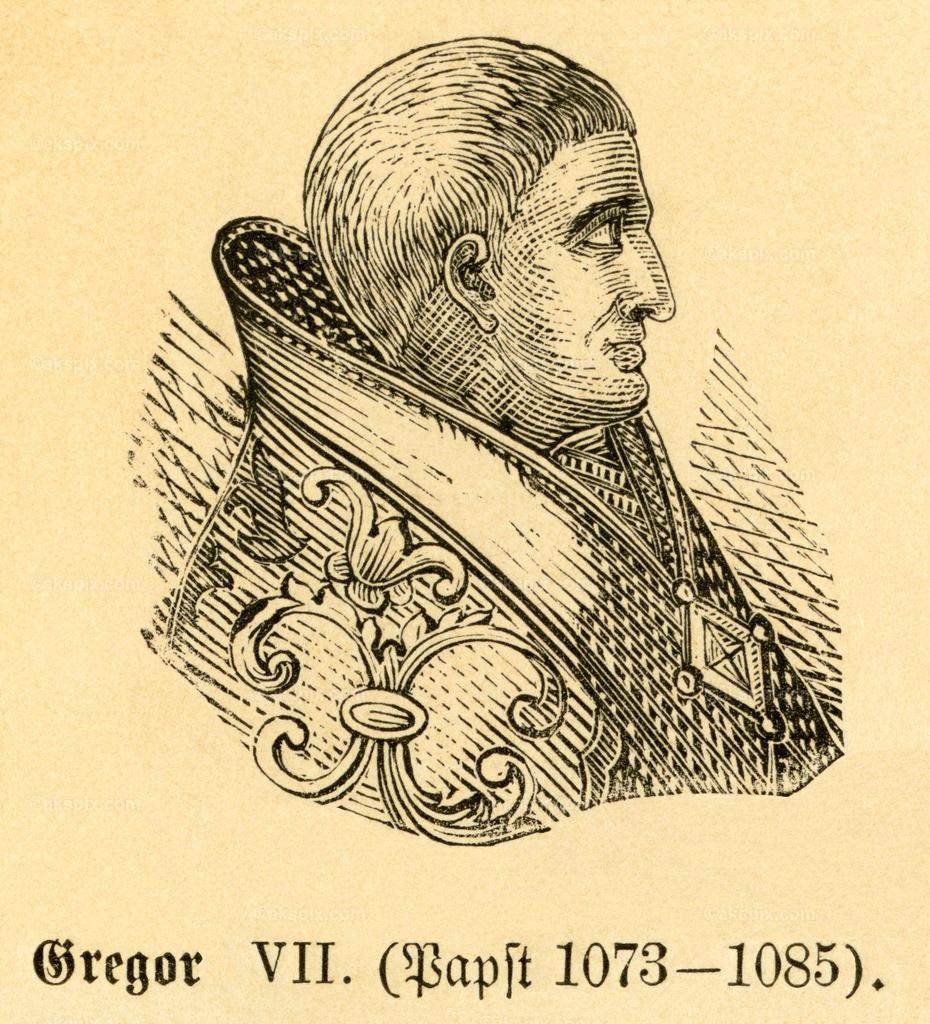 Papst Gregor VII. / Pope Gregory VII   Europa, Italien, Toskana, Sovana, Papst Gregor VII. ,  Motiv aus :