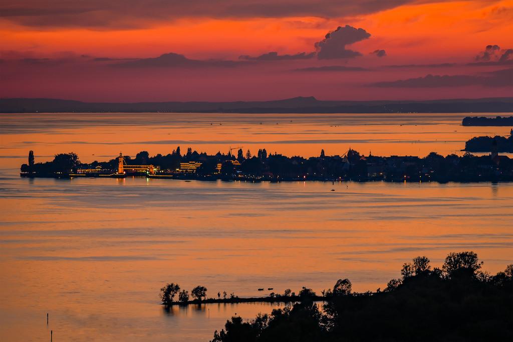 Blick auf die Lindauer Insel