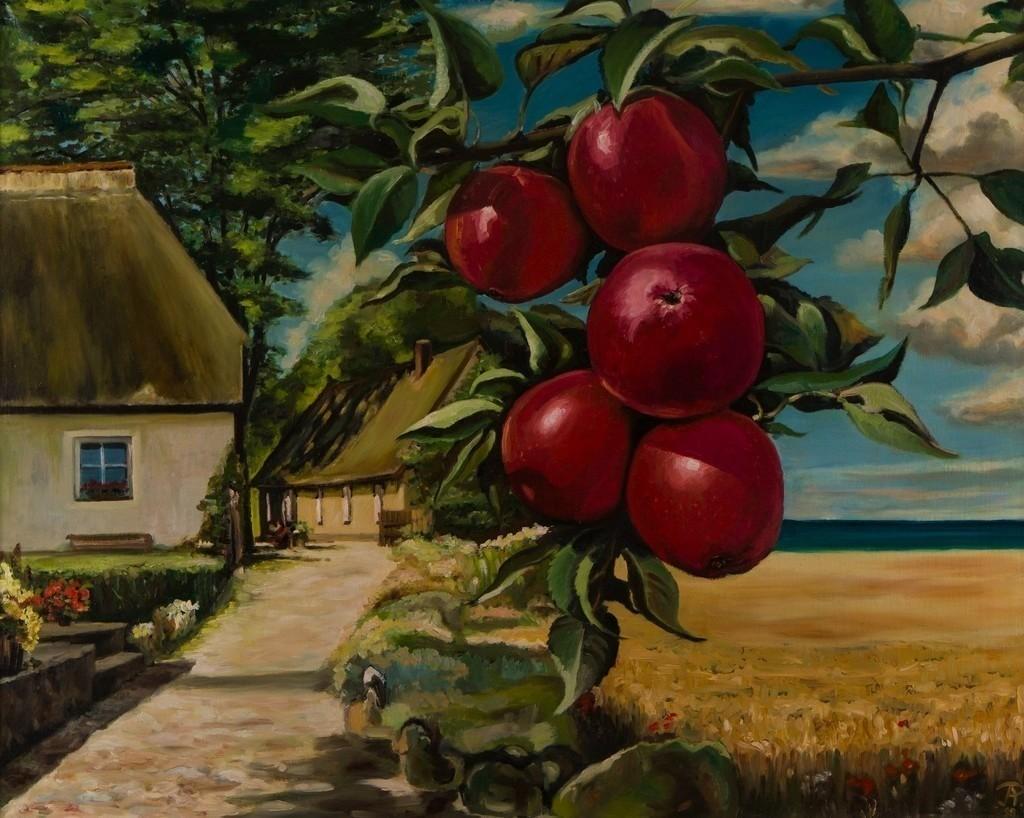Ostseelandschaft mit Äpfeln | Originalformat: 60x75cm  -  Produktionsjahr: 1998