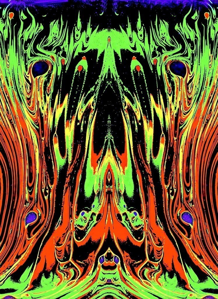 Magma rot rot gelb grün komb 3 | Fotografische Kunst