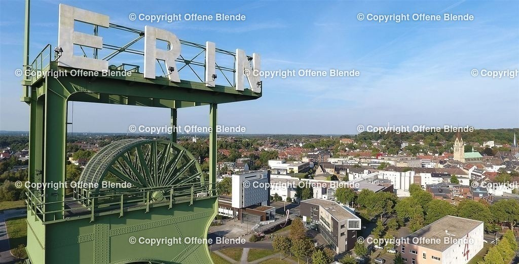 Luftbild Förderturm Erin | Erinturm in Castrop-Rauxel