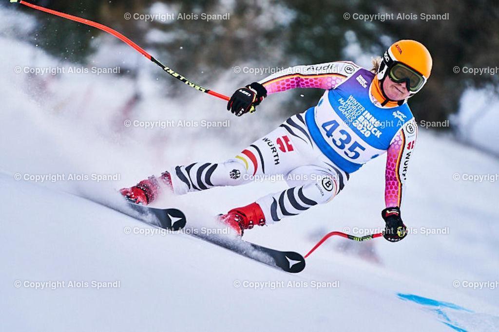 ALS5849_WWMG_GS-II_C | (C) FotoLois.com, Alois Spandl, WinterWorldMastersGames 2020 Innsbruck, Giant Slalom-II Gruppe C Damen, Patscherkofel Olympiaabfahrt, Mi 15. Jänner 2020.