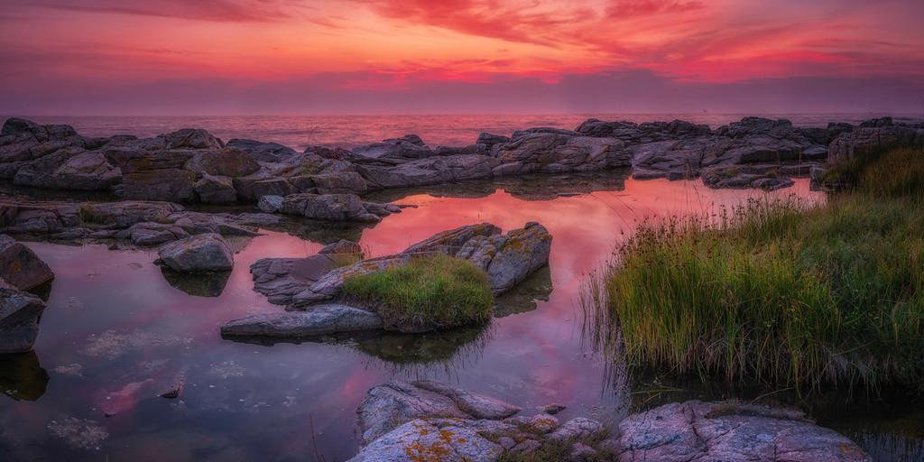An der Küste von Tejn   Panorama bei Sonnenaufgang an der Küste von Tejn