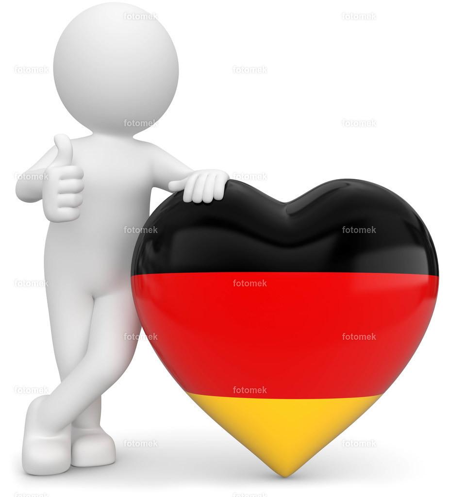 3d Männchen mit Deutschlandherz