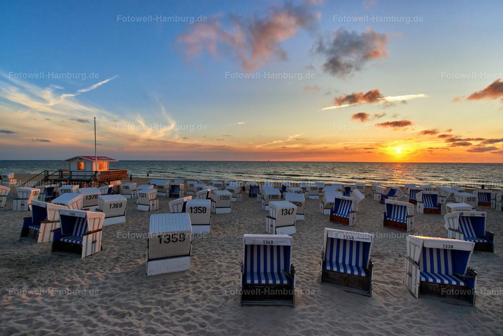 10180706 - Sonnenuntergang auf Sylt | Tolle Abendstimmung am Strand von Westerland auf Sylt