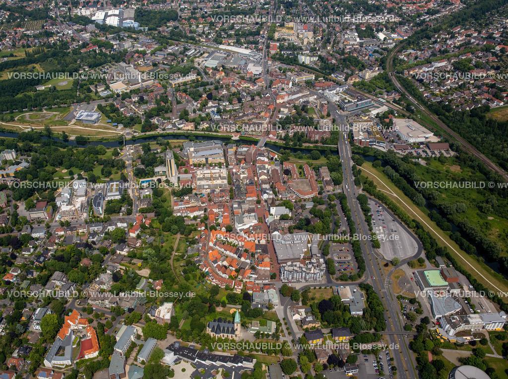 Luenen15072407 | Blick auf den Stadtkern von Lünen mit dem Umbau des Hertie-Hauses, Lünen, Ruhrgebiet, Nordrhein-Westfalen, Deutschland