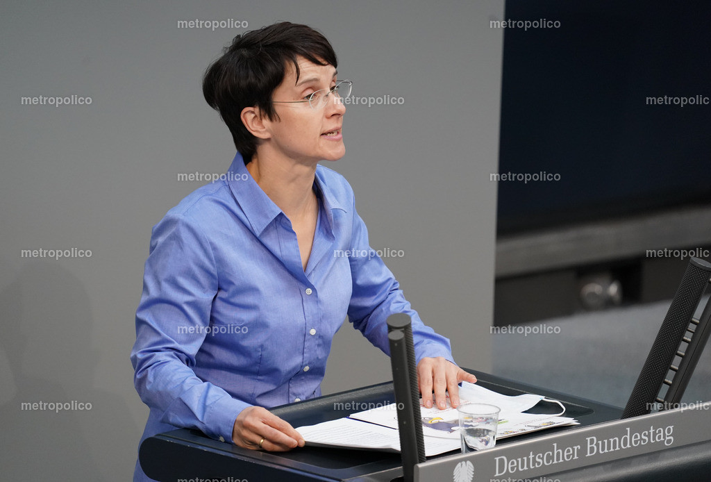 Frauke Petry im April 2021 im Bundestag