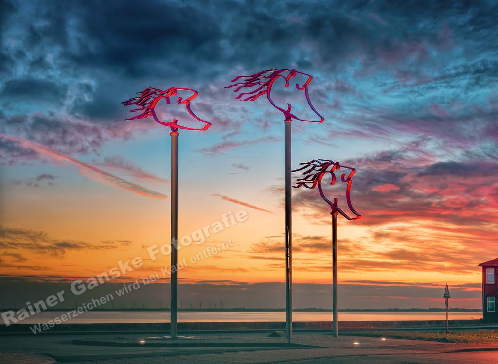 181019-46-Wilhelmshaven Windwächter Sonnenuntergang