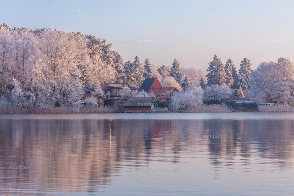 Blick über die Feisneck an einem Wintertag