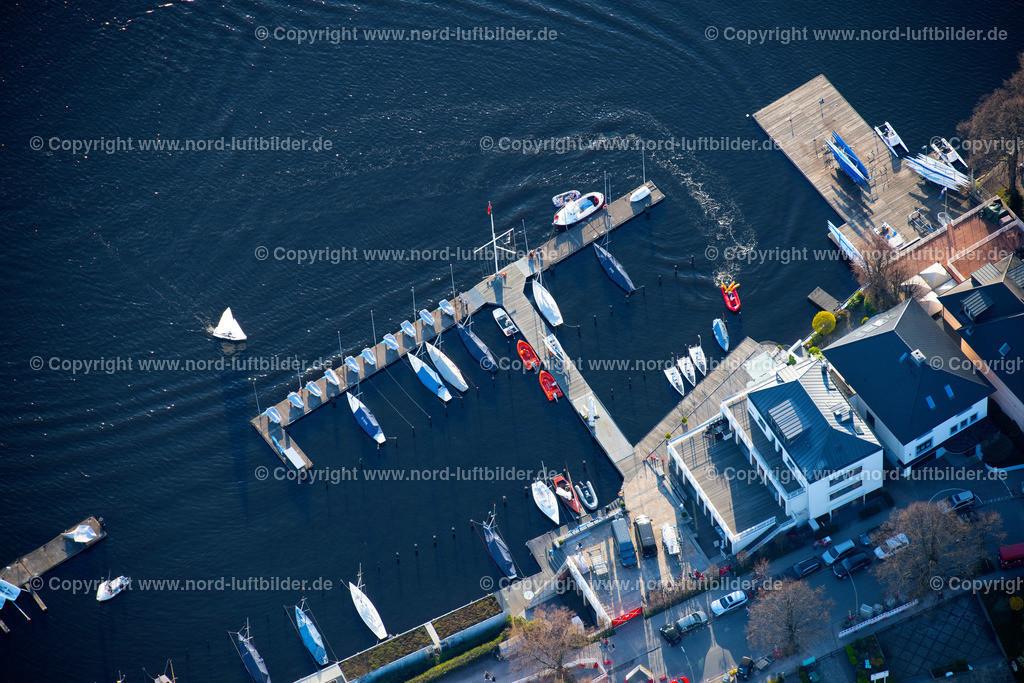 Hamburg_Uhlenhorst_Segelhafen_ELS_5022200421 | HAMBURG 20.04.2021 Sportboot- Anlegestellen und Bootsliegeplätzen des