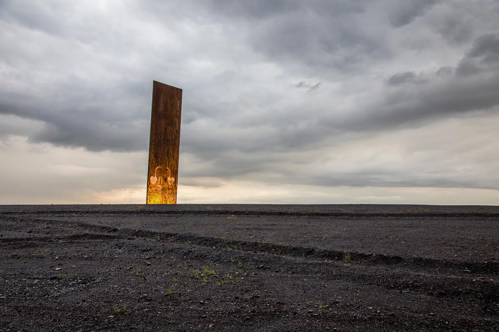 JT-171105-082 | Schurenbachhalde, Kunstwerk des britischen Künstlers Richard Serra,