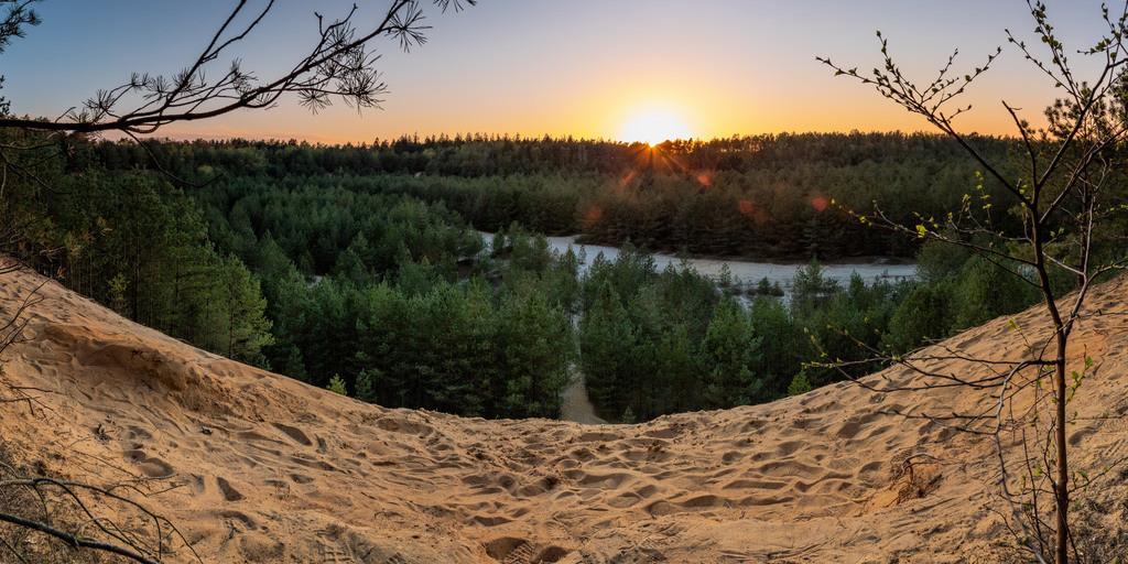 Sonnenuntergang bei Schmidts Kiefern | Sonnenuntergang in Garlstedt. Frühling 2020