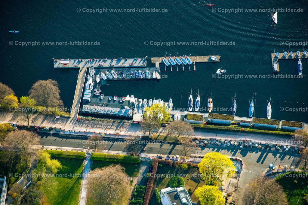 Hamburg_Uhlenhorst_Segelhafen_ELS_5017200421 | HAMBURG 20.04.2021 Sportboot- Anlegestellen und Bootsliegeplätzen des