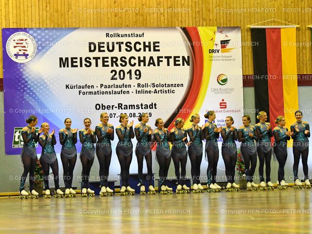 Deutsche Meisterschaften Rollkunstlauf in Ober-Ramstadt 20190803 copyright by HEN-FOTO | Deutsche Meisterschaften Rollkunstlauf in Ober-Ramstadt 20190803 Formation Magic Team copyright + Foto: Peter Henrich (HEN-FOTO)