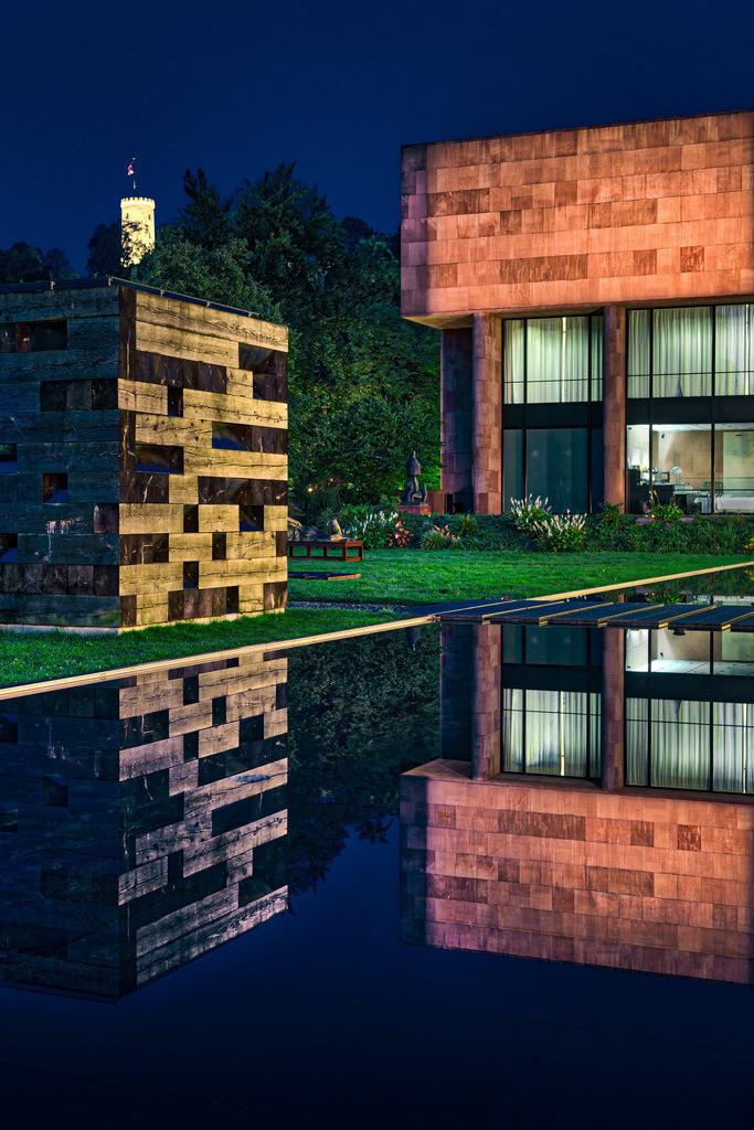 Kunsthalle Bielefeld bei Nacht | Nachtaufnahme der Kunsthalle Bielefeld.