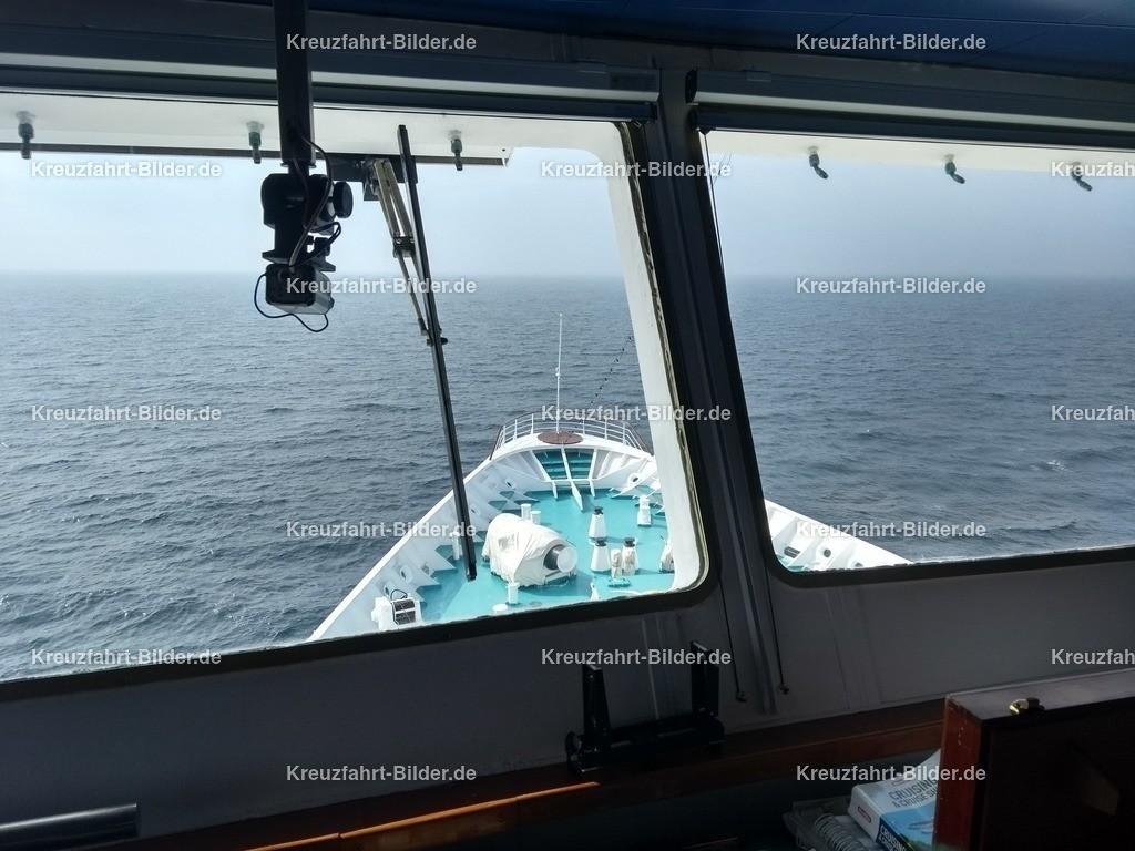 MS Albatros Blick von der Brücke | MS Albatros Blick von der Brücke in Richtung Bug