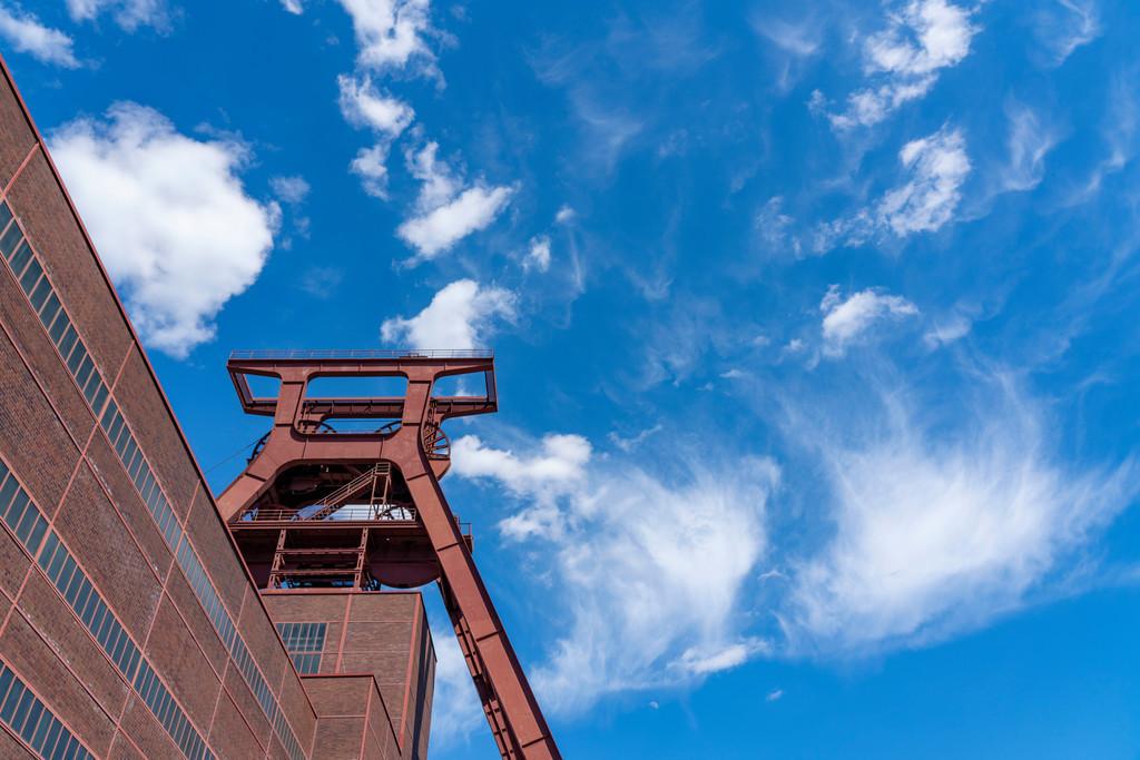 JT-200601 | Welterbe Zeche Zollverein,  Doppelbock Fördergerüst, Schacht 12, Essen, Deutschland,
