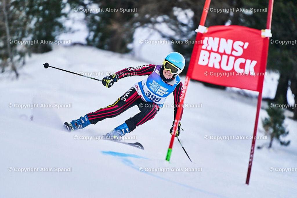 ALS5680_WWMG_GS-II_C | (C) FotoLois.com, Alois Spandl, WinterWorldMastersGames 2020 Innsbruck, Giant Slalom-II Gruppe C Damen, Patscherkofel Olympiaabfahrt, Mi 15. Jänner 2020.