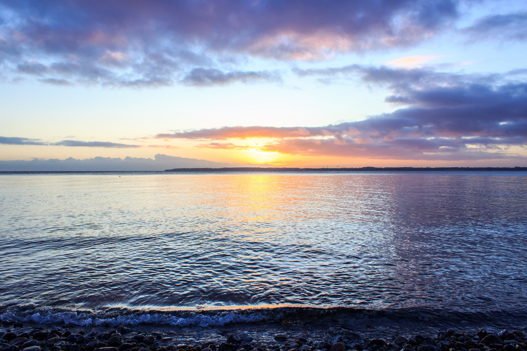 Strand in Klein Waabs | Sonnenaufgang in Klein Waabs