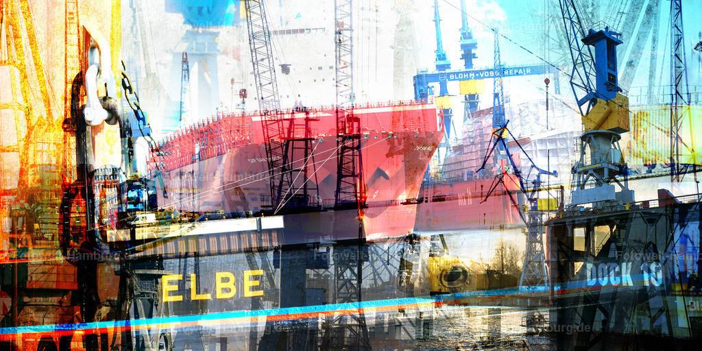 12003649 - Hamburger Hafen Collage