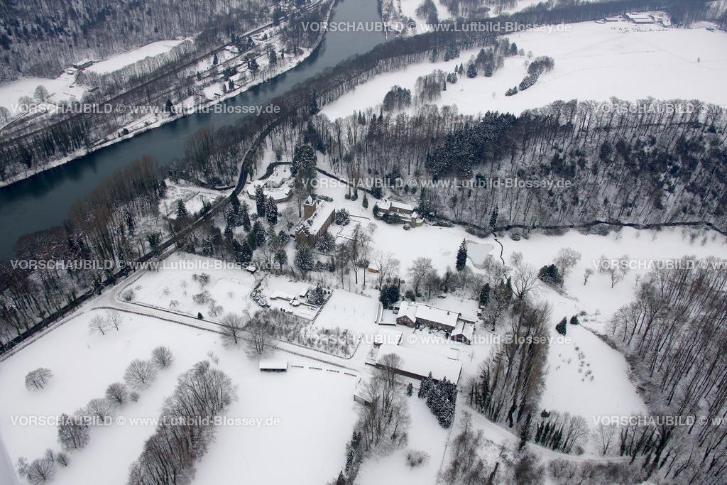 KT10011093   Schnee,  Kettwig, Essen, Ruhrgebiet, Nordrhein-Westfalen, Deutschland, Europa, Foto: Luftbild Hans Blossey, Copyright: hans@blossey.eu, 06.01.2010, E 006° 57' 52.43