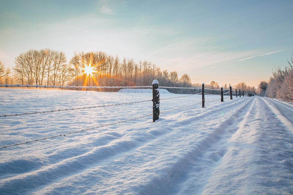 Sonnenaufgang im Winter | Sonnenaufgang im Winter