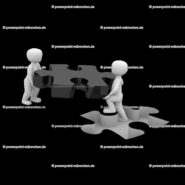 men carrying a puzzle piece (2) | https://3dman.eu jetzt 250 Bilder gratis sichern