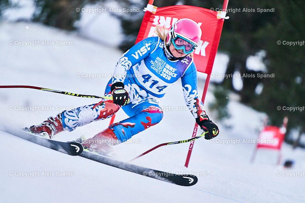 ALS5776_WWMG_GS-II_C   (C) FotoLois.com, Alois Spandl, WinterWorldMastersGames 2020 Innsbruck, Giant Slalom-II Gruppe C Damen, Patscherkofel Olympiaabfahrt, Mi 15. Jänner 2020.