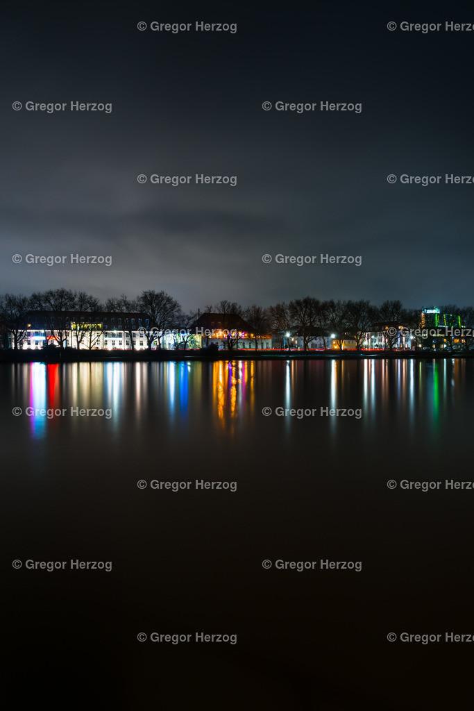 Farbenpracht am Aasee | Münster Aasee bei Nacht.