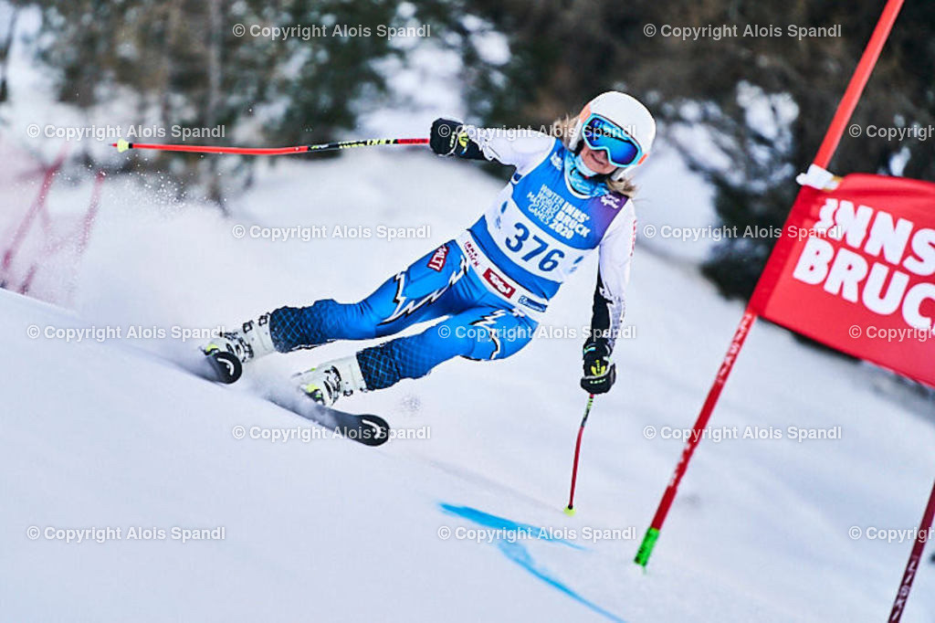ALS5555_WWMG_GS-II_C | (C) FotoLois.com, Alois Spandl, WinterWorldMastersGames 2020 Innsbruck, Giant Slalom-II Gruppe C Damen, Patscherkofel Olympiaabfahrt, Mi 15. Jänner 2020.