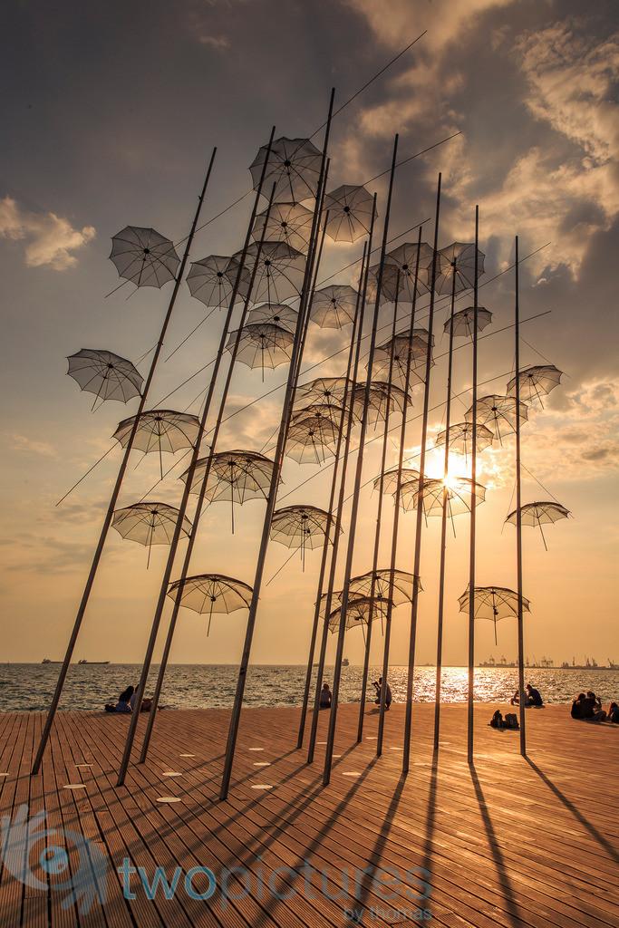 Die Umbrella Skulptur | Thessaloniki