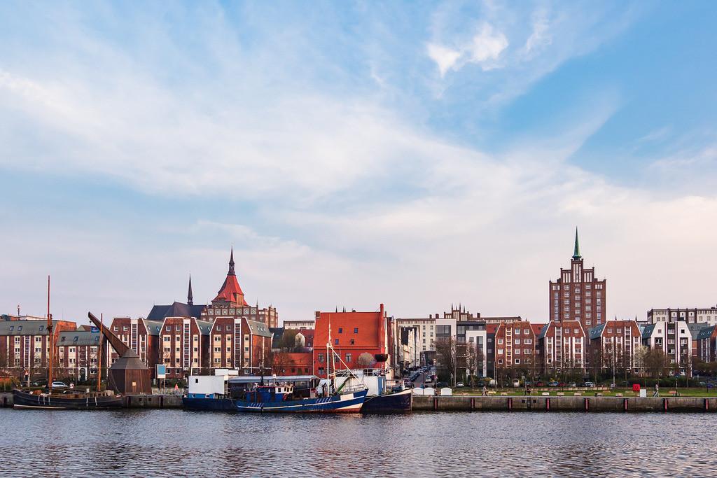 Blick auf den Stadthafen in Rostock   Blick auf den Stadthafen in Rostock.